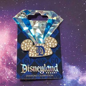 Disneyland Diamond Anniversary Mickey Ears Pin